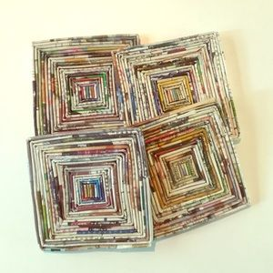 Other - Recycled newspaper coasters